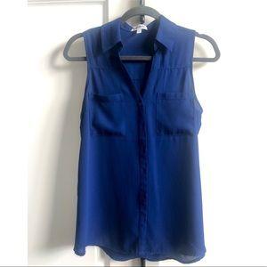 Express Portofino Sleeveless Shirt. Blue. UEC. SP